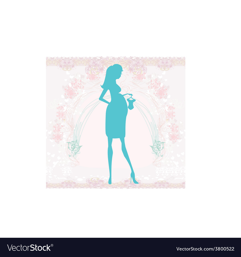 Beautiful pregnant woman on shopping for her new vector   Price: 1 Credit (USD $1)