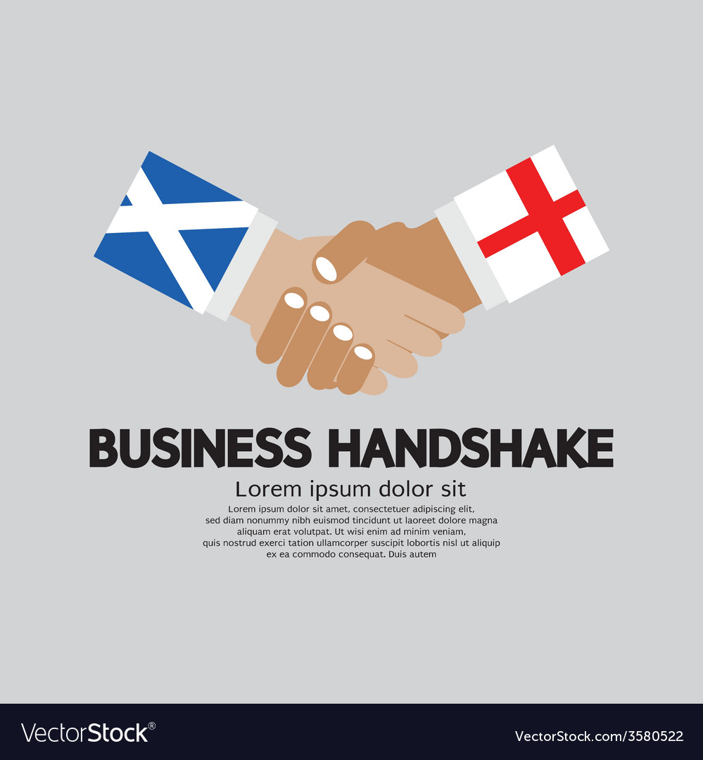 Business handshake scotland and england vector | Price: 1 Credit (USD $1)