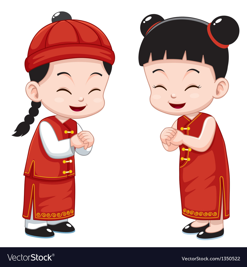 Chinese kids vector | Price: 3 Credit (USD $3)