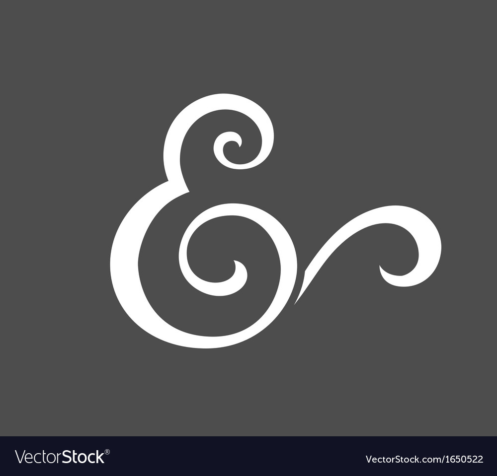 Custom ampersand vector | Price: 1 Credit (USD $1)