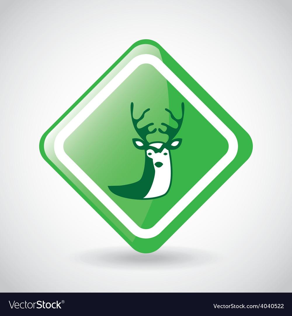 Deer signal vector   Price: 1 Credit (USD $1)