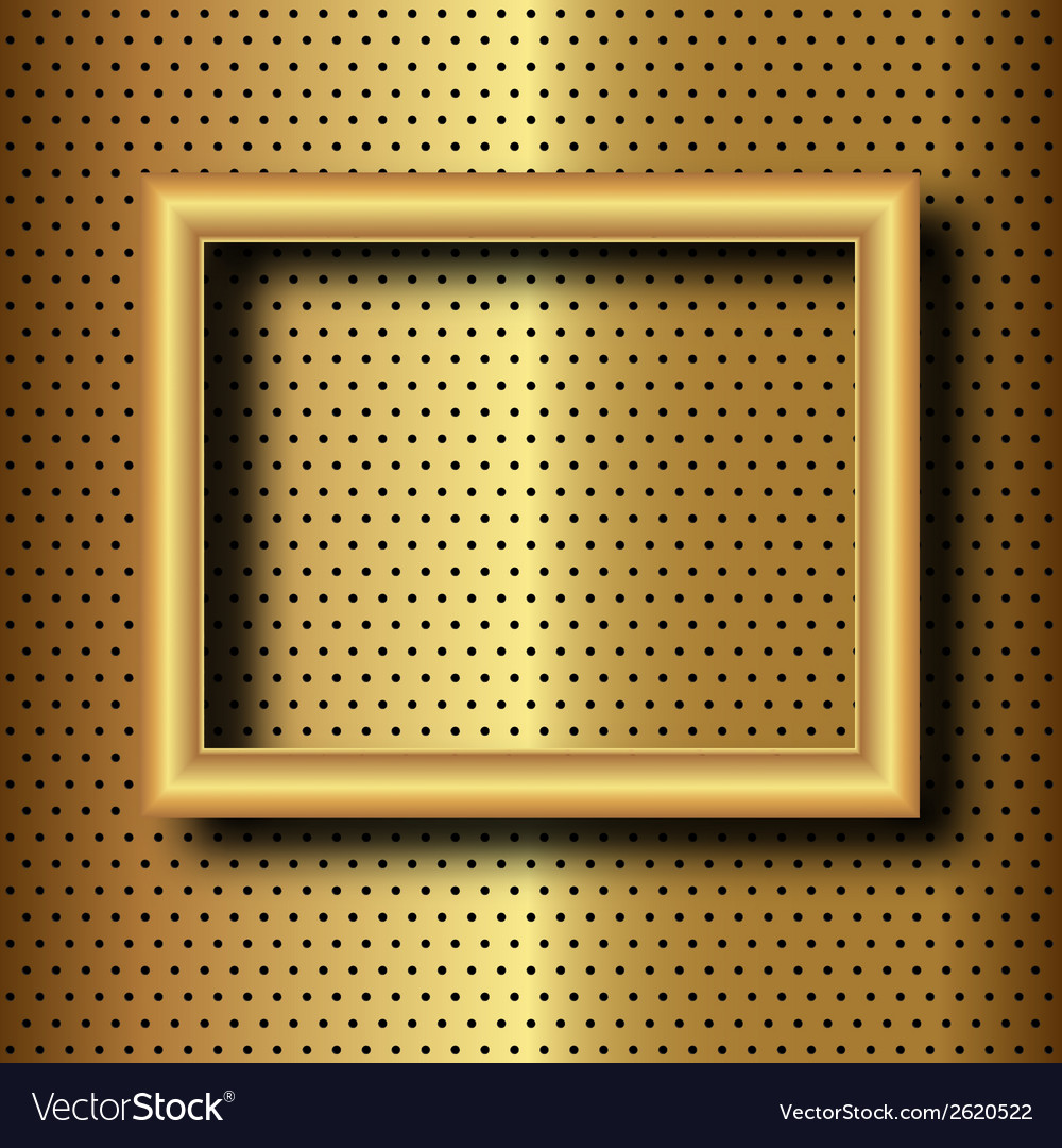 Frame on gold vector | Price: 1 Credit (USD $1)