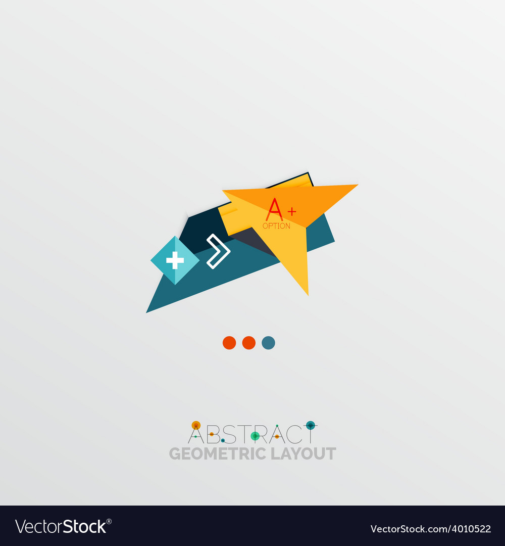 Glossy paper style geometric abstract infographic vector   Price: 1 Credit (USD $1)