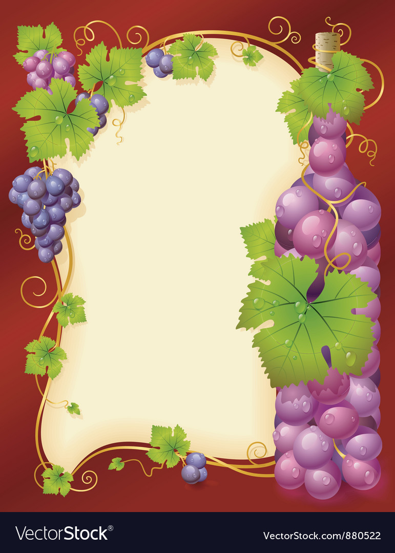 Grape frame vector | Price: 3 Credit (USD $3)