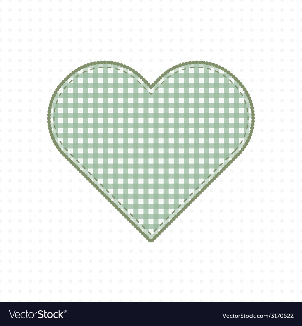 Heart of handmade fabric cute baby style vector | Price: 1 Credit (USD $1)