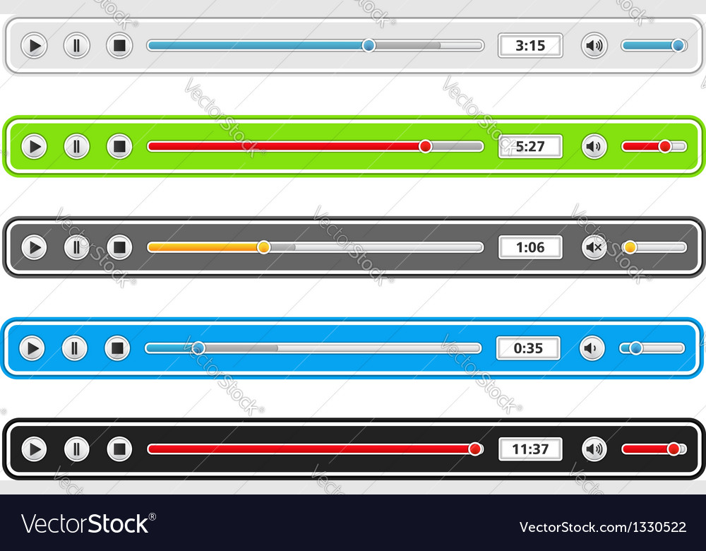 Music player templates vector   Price: 1 Credit (USD $1)
