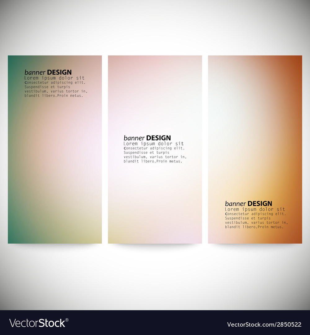 Set of vertical banners abstract multicolored vector | Price: 1 Credit (USD $1)