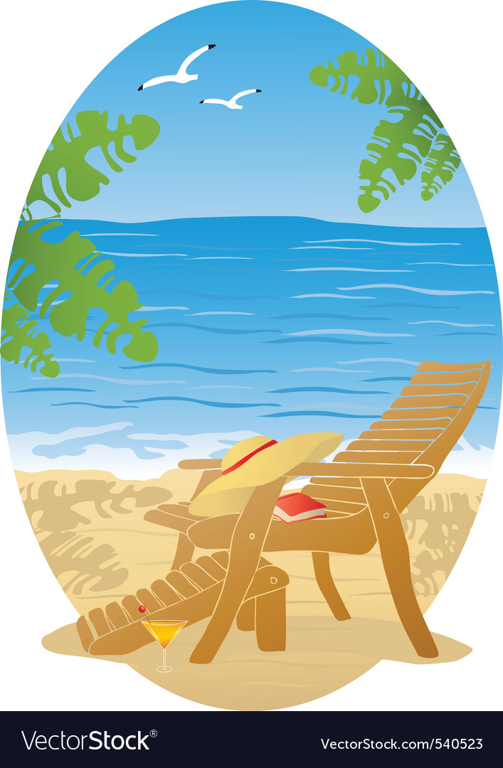Beach graphic vector | Price: 1 Credit (USD $1)