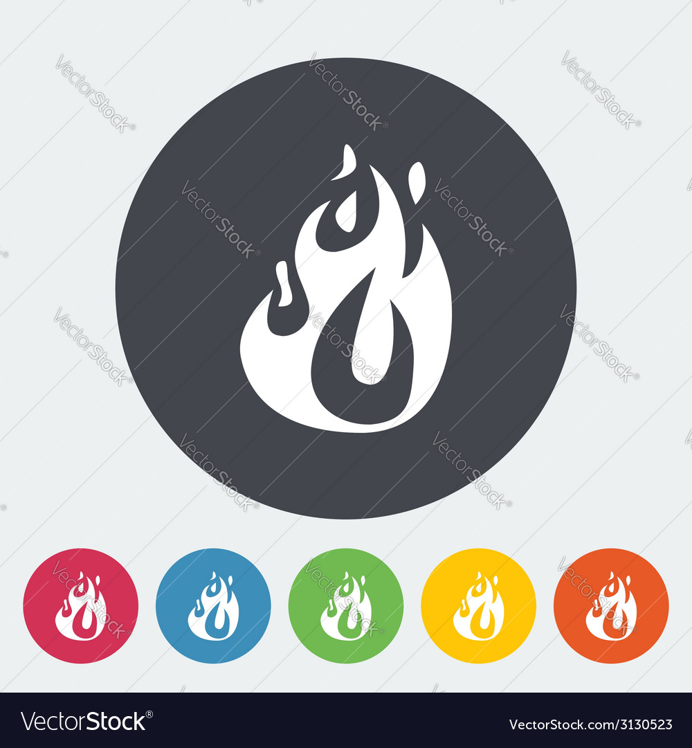 Fire flat icon vector | Price: 1 Credit (USD $1)