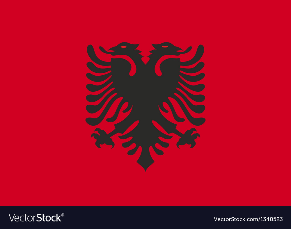 Flag albania vector | Price: 1 Credit (USD $1)