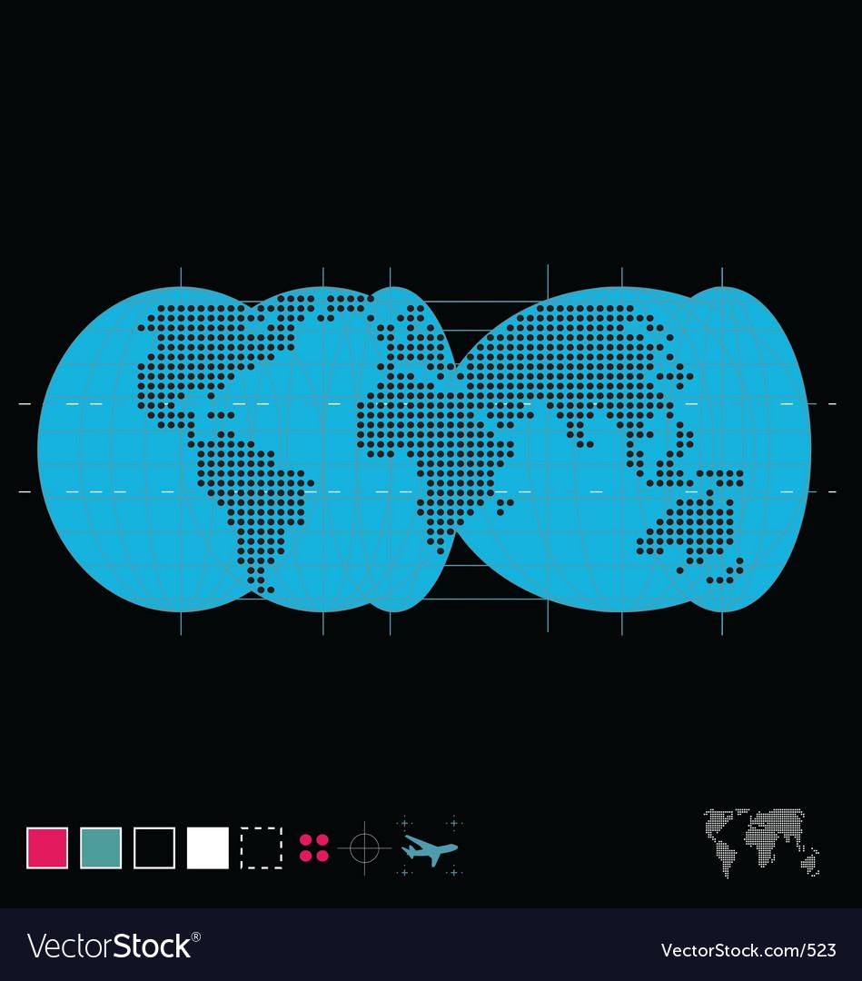 The globe vector | Price: 1 Credit (USD $1)