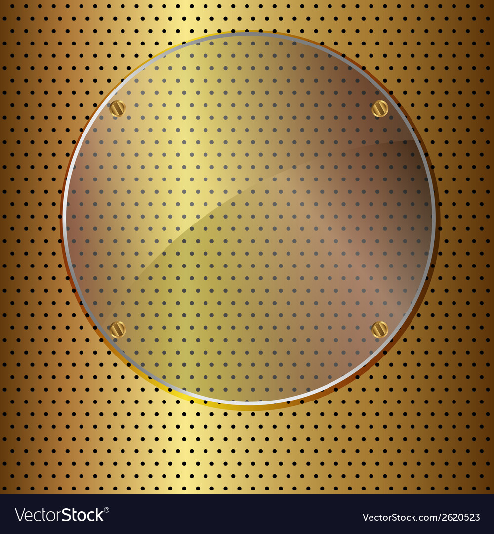 Gold and glass circle vector | Price: 1 Credit (USD $1)