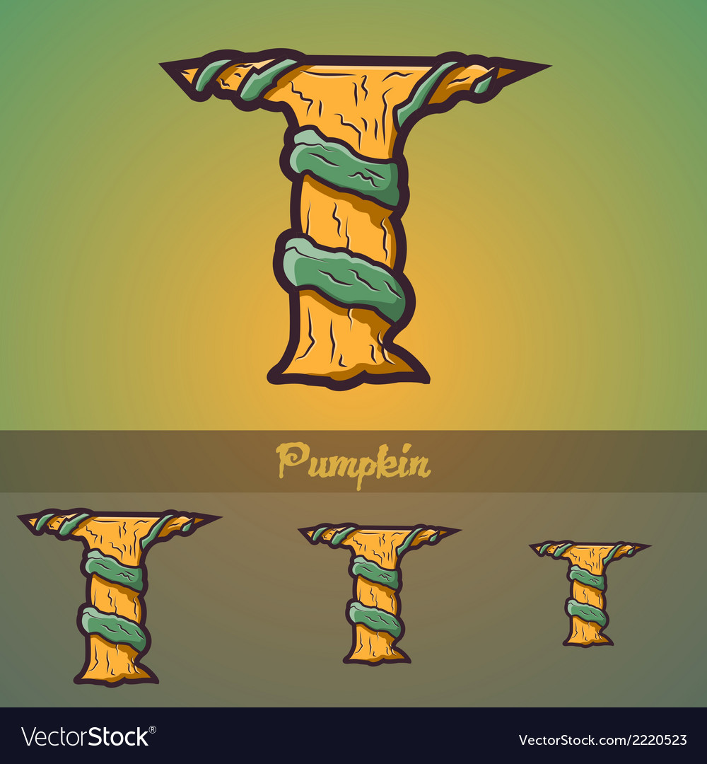 Halloween decorative alphabet - t letter vector | Price: 1 Credit (USD $1)