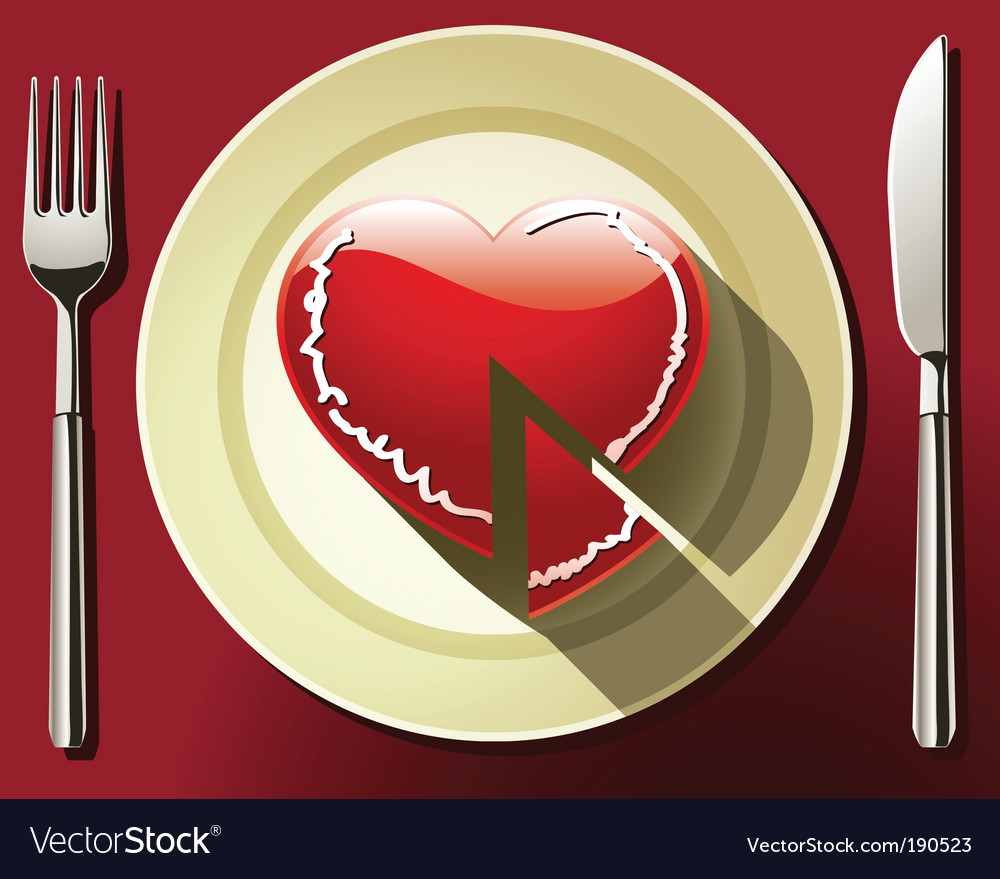 Heart slice vector | Price: 3 Credit (USD $3)