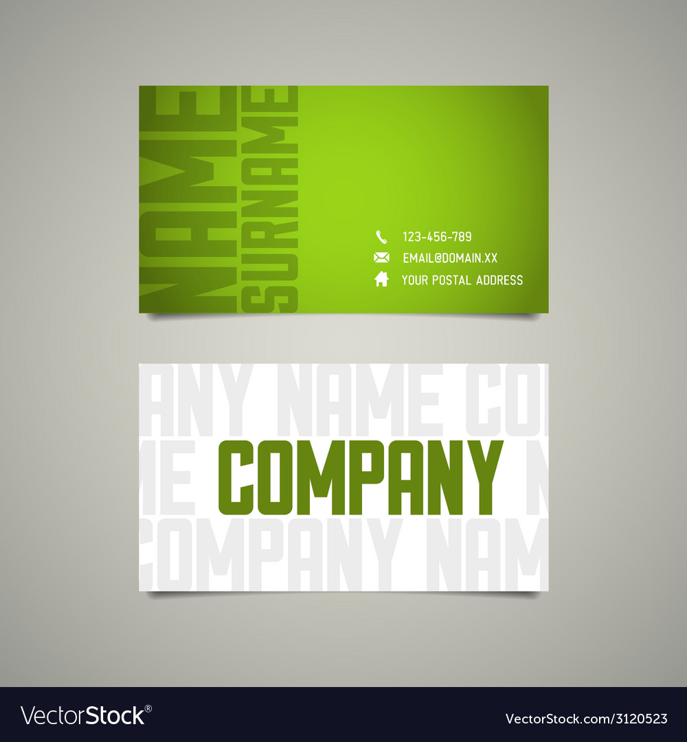 Modern simple business card template with big vector   Price: 1 Credit (USD $1)