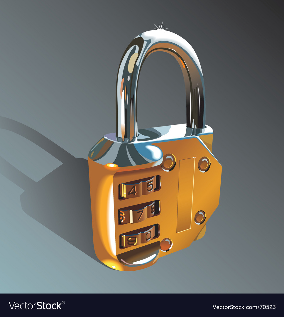 Photo-realistic padlock vector | Price: 1 Credit (USD $1)
