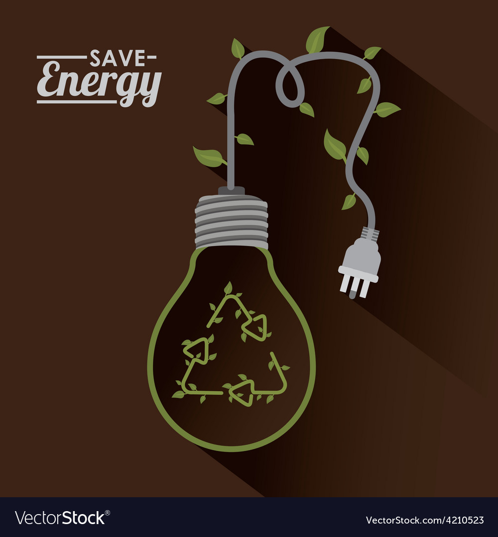 Save energy design vector | Price: 1 Credit (USD $1)