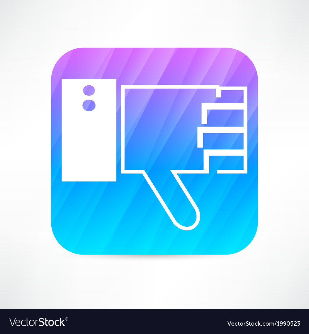 Thumb down icon vector | Price: 1 Credit (USD $1)