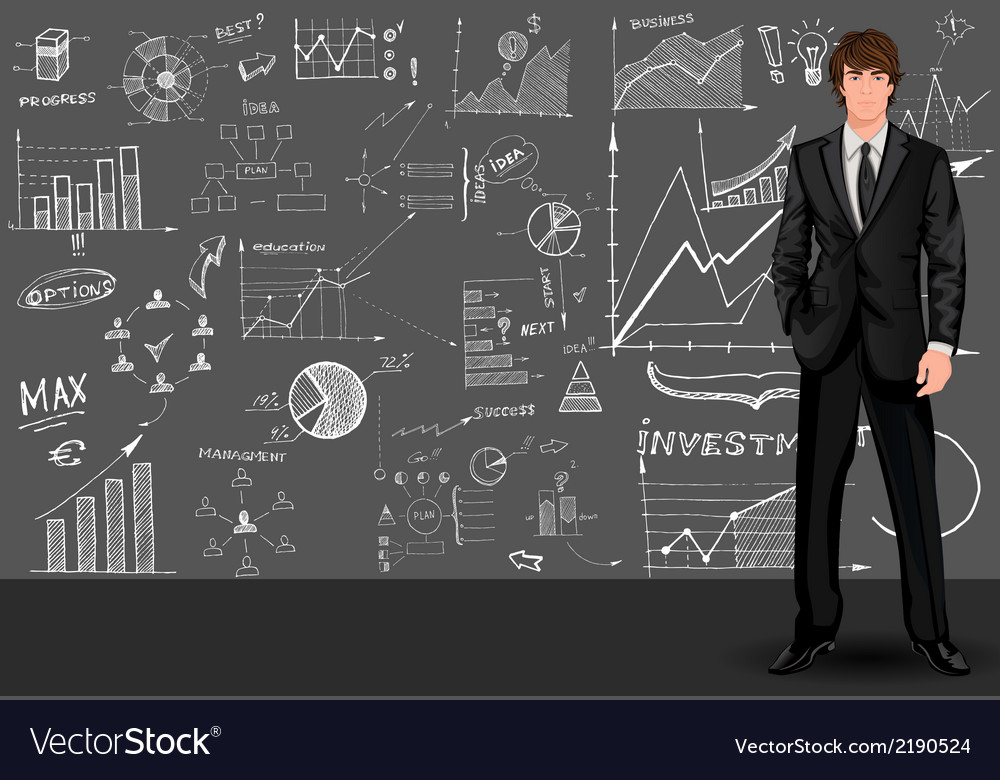Business man sketch background vector | Price: 1 Credit (USD $1)