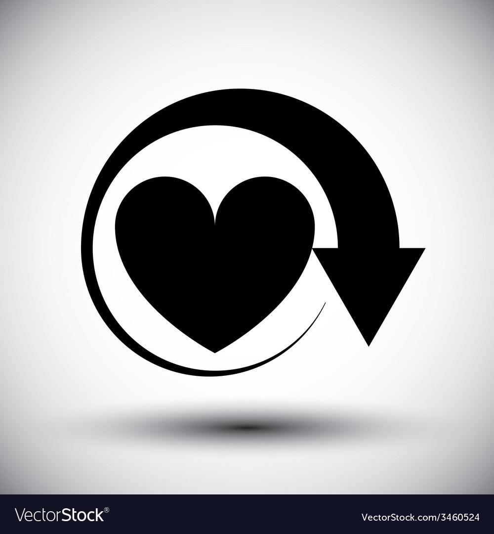 Heart conceptual simple single color icon vector   Price: 1 Credit (USD $1)