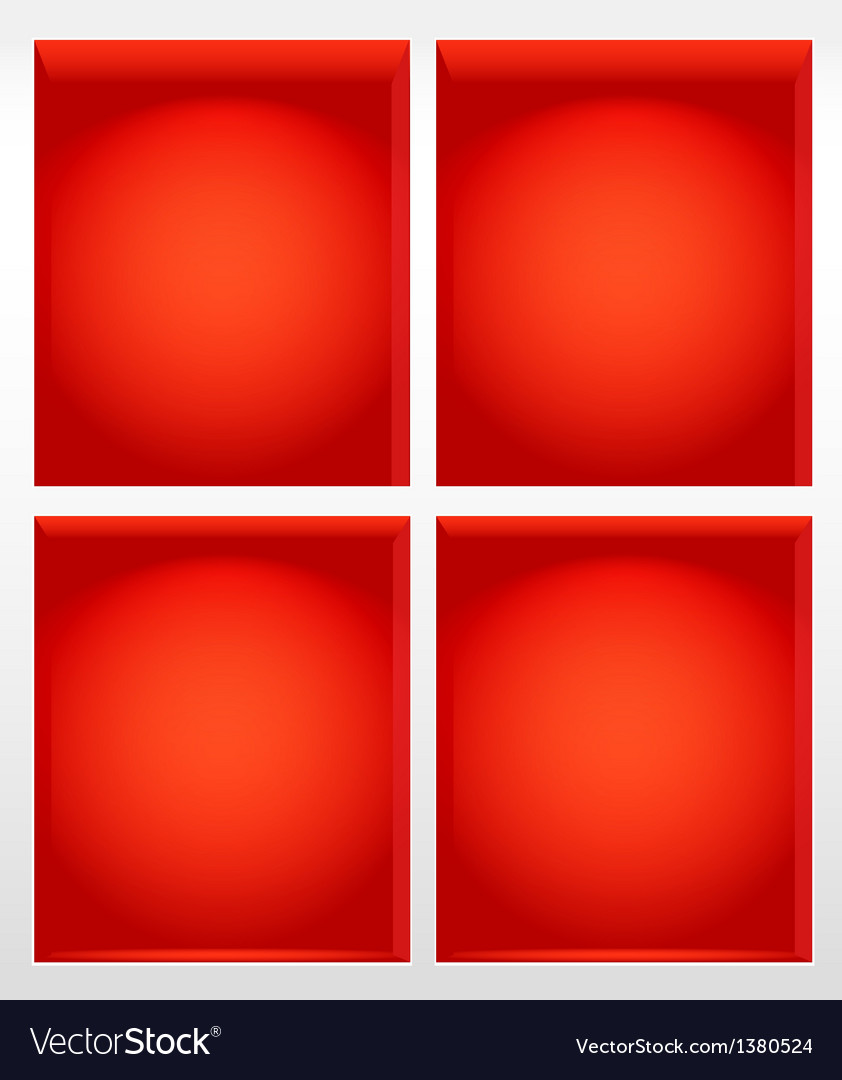 Illuminated empty red book shelves vector | Price: 1 Credit (USD $1)