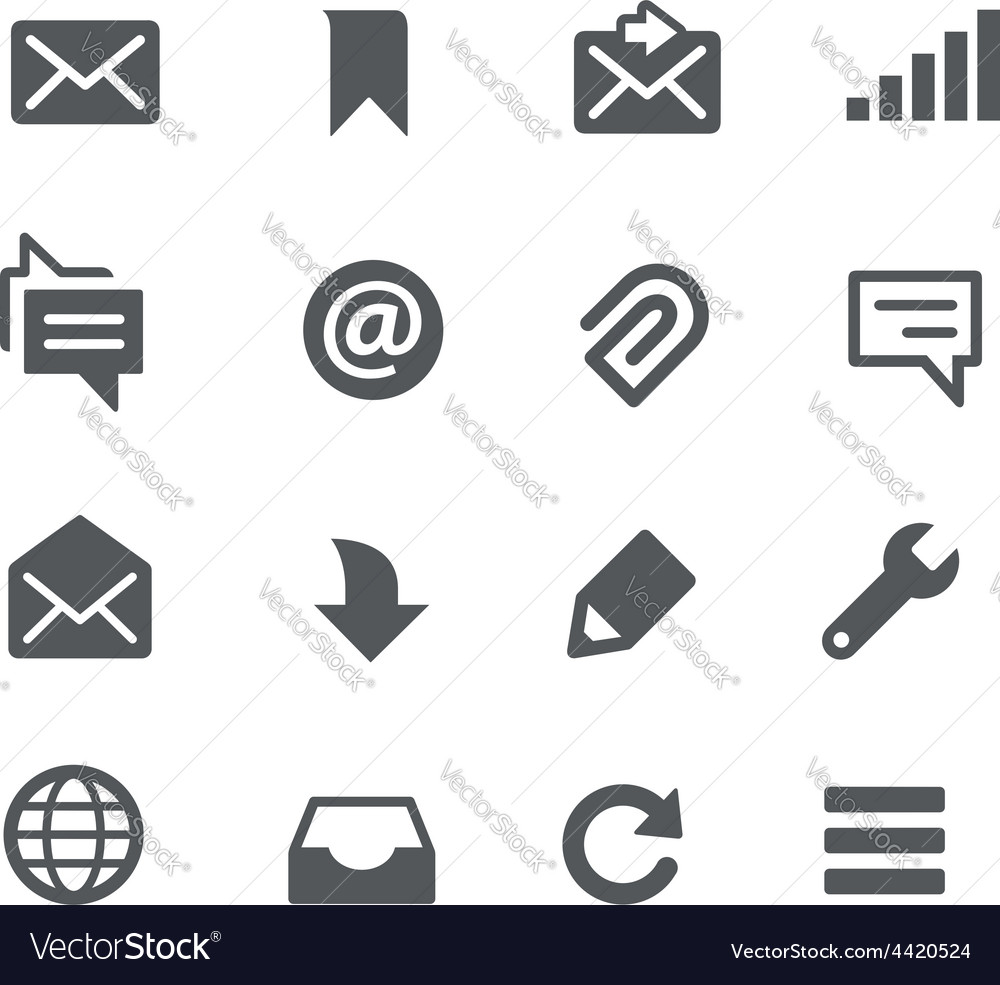 Messages icons - apps interface vector | Price: 1 Credit (USD $1)