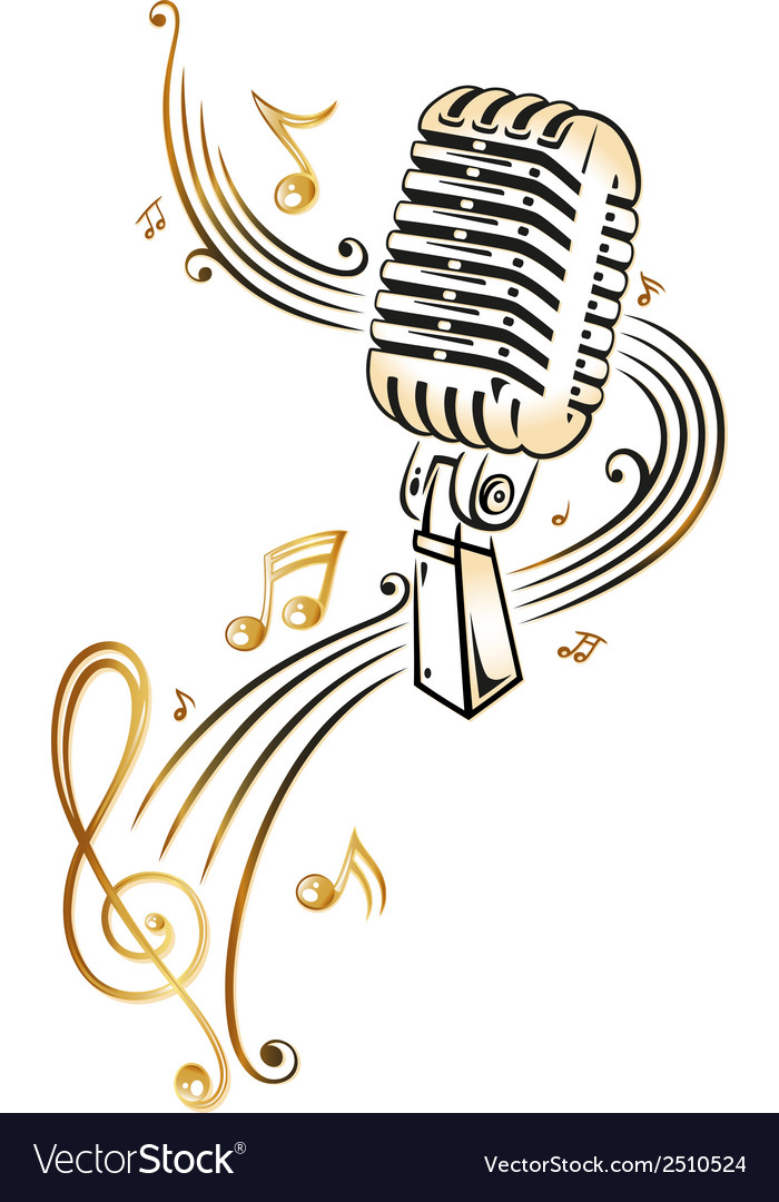 Microphone music vector | Price: 1 Credit (USD $1)