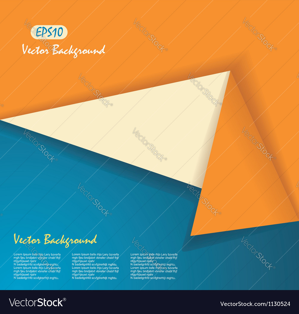 Origami banner vector | Price: 1 Credit (USD $1)