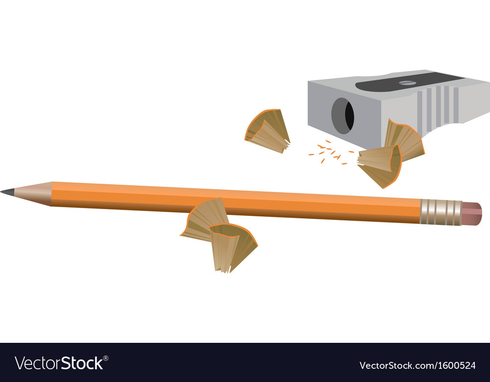 Pencil and sharpener vector | Price: 1 Credit (USD $1)