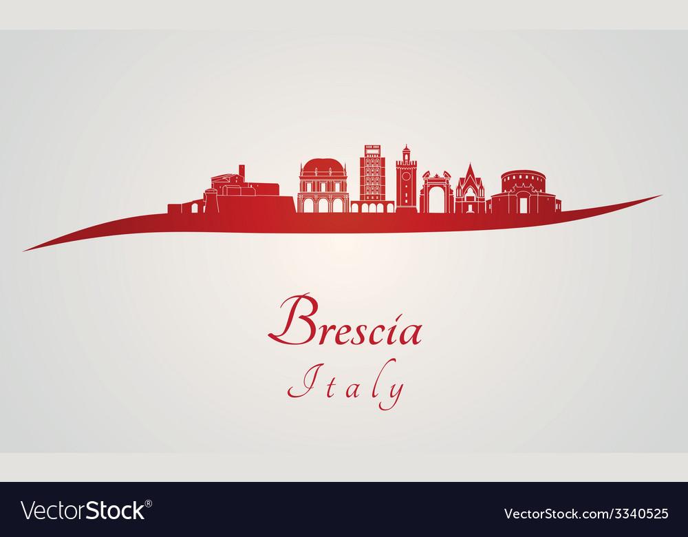 Brescia skyline in red vector | Price: 1 Credit (USD $1)