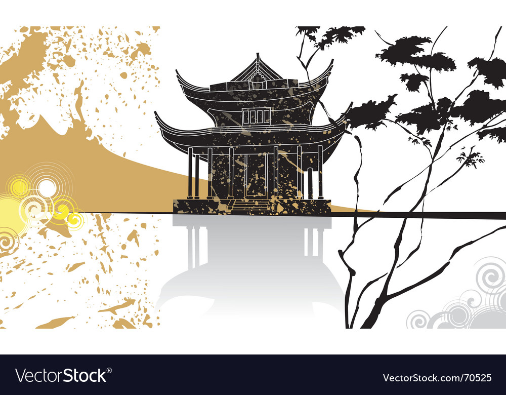 Chinese pagoda abstract background vector | Price: 1 Credit (USD $1)