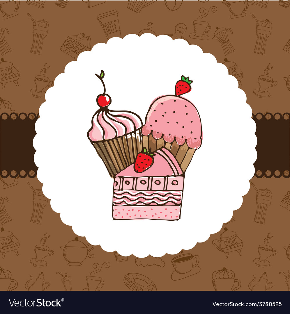 Delicious dessert vector | Price: 1 Credit (USD $1)
