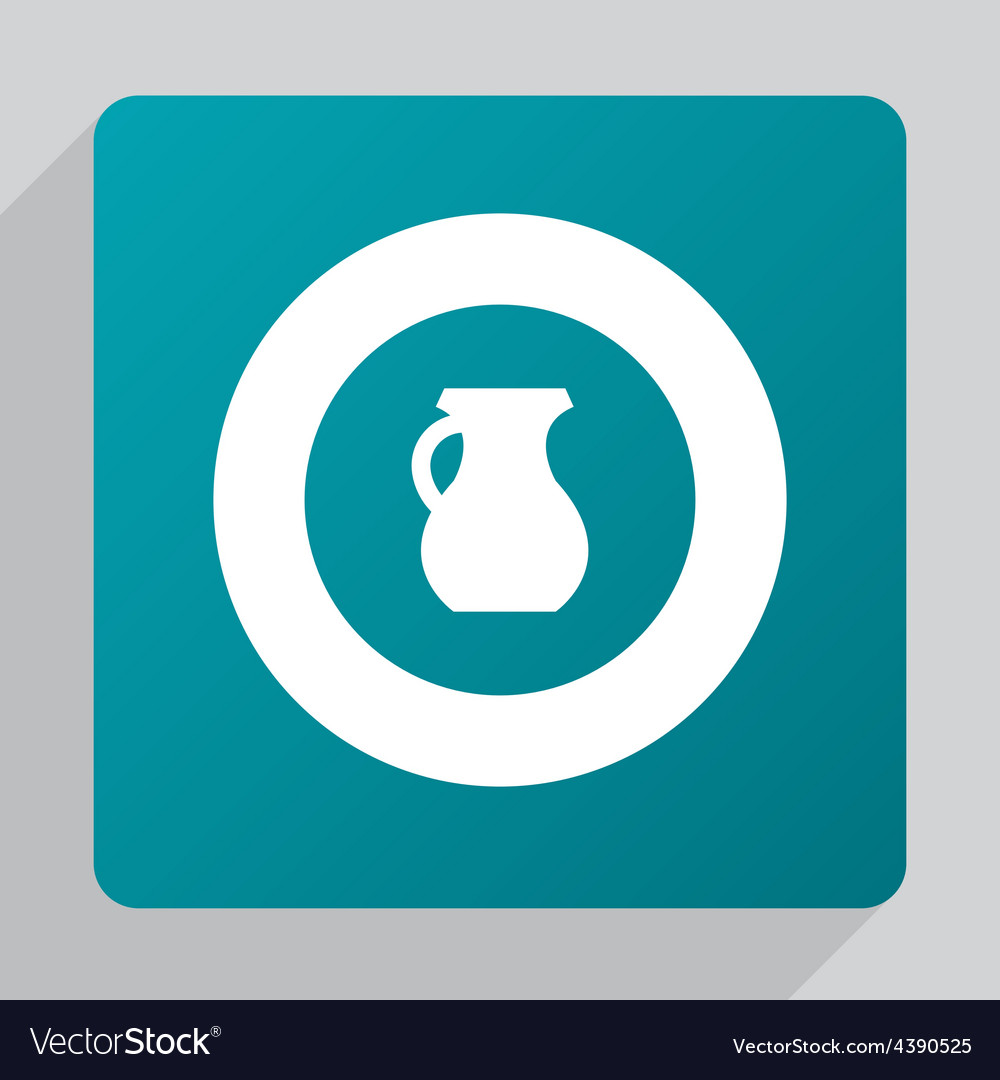 Flat pitcher icon vector | Price: 1 Credit (USD $1)