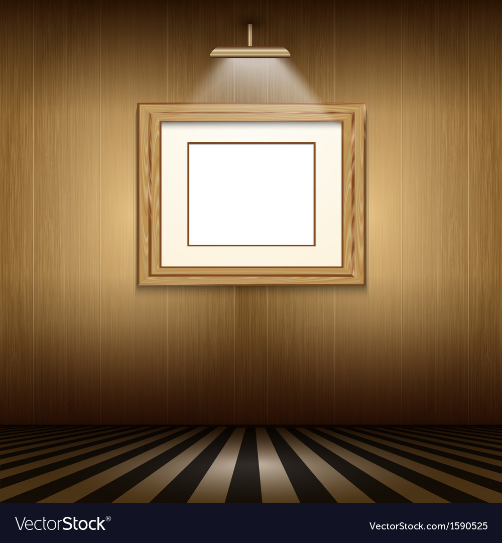 Interior with blank picture frame vector | Price: 1 Credit (USD $1)