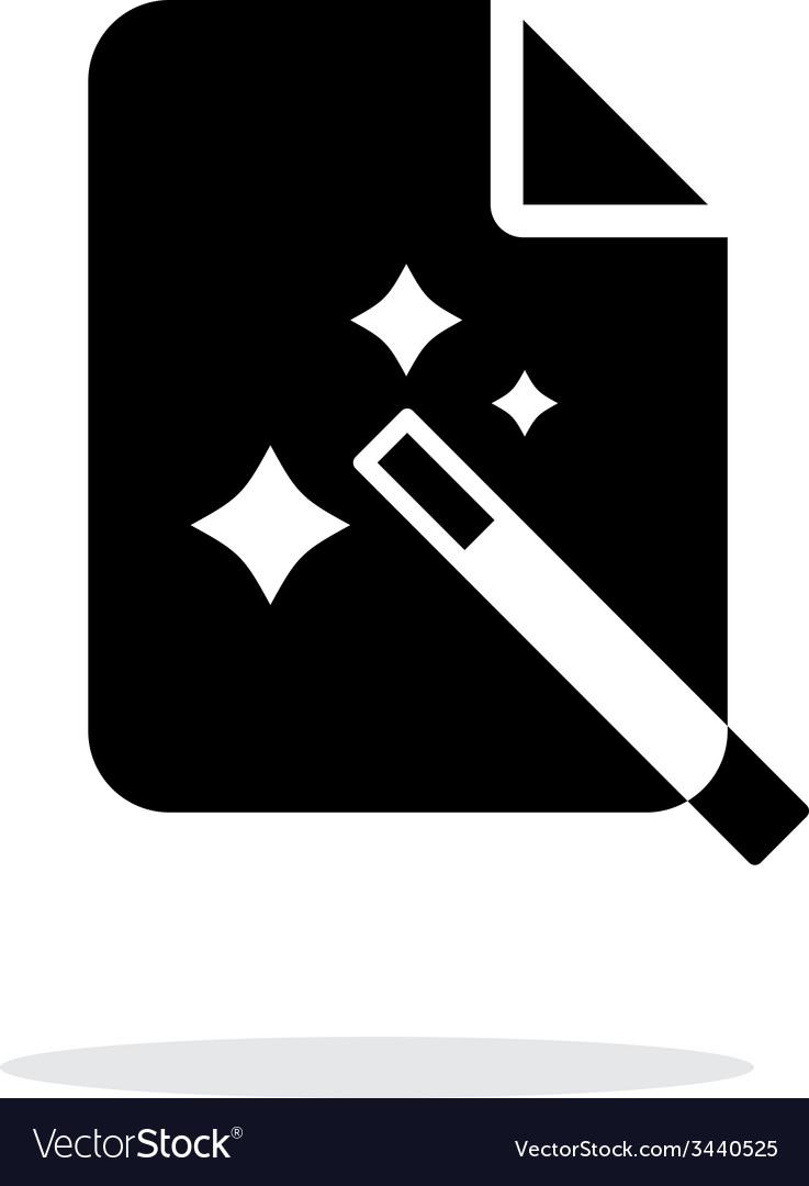 Magic file icon vector | Price: 1 Credit (USD $1)