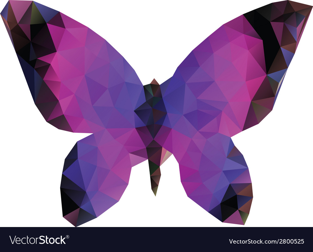 Polygonal butterfly vector | Price: 1 Credit (USD $1)