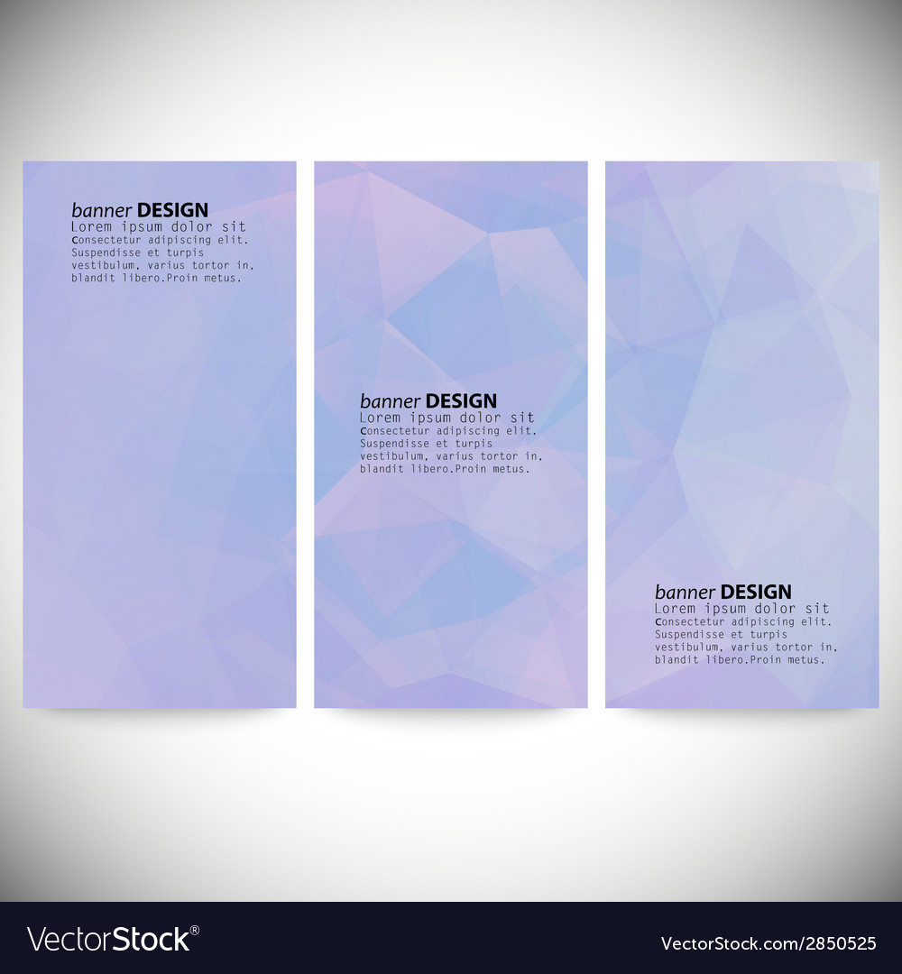 Set of vertical banners abstract blue background vector | Price: 1 Credit (USD $1)