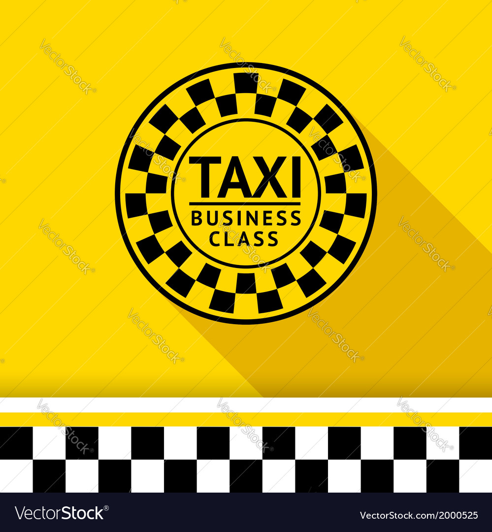 Taxi badge with shadow - 06 vector | Price: 1 Credit (USD $1)