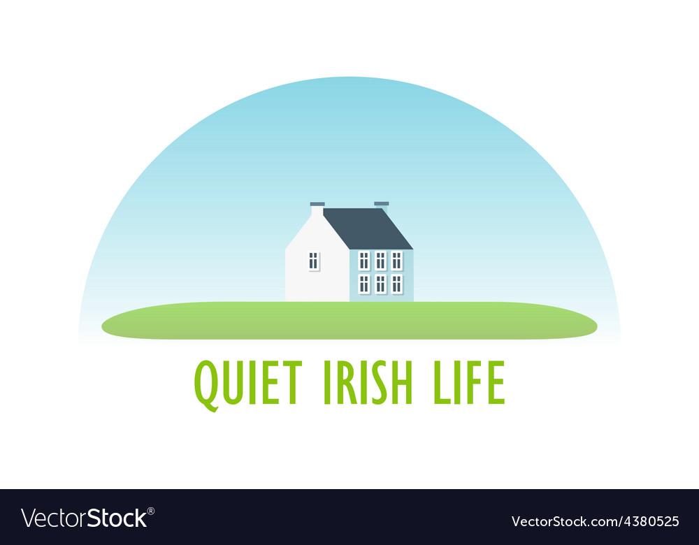 Traditional irish house vector | Price: 1 Credit (USD $1)