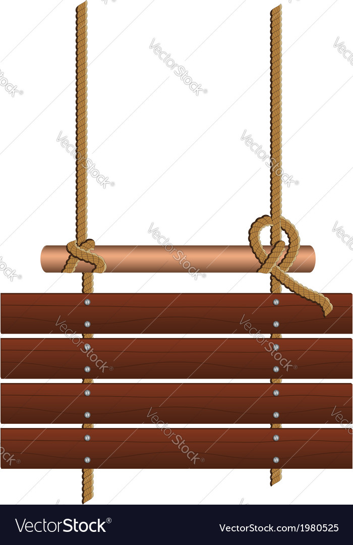 Wood sign on a rope vector | Price: 1 Credit (USD $1)