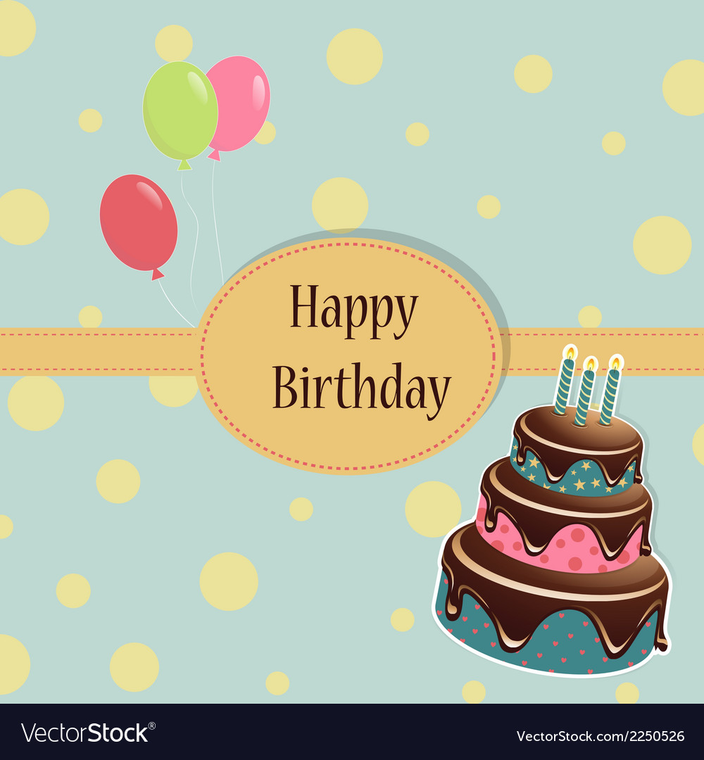 Birthday template greeting card vector | Price: 1 Credit (USD $1)