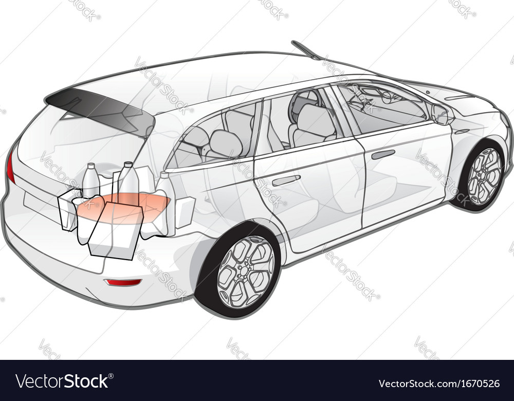 Car infographics cutaway vector | Price: 1 Credit (USD $1)