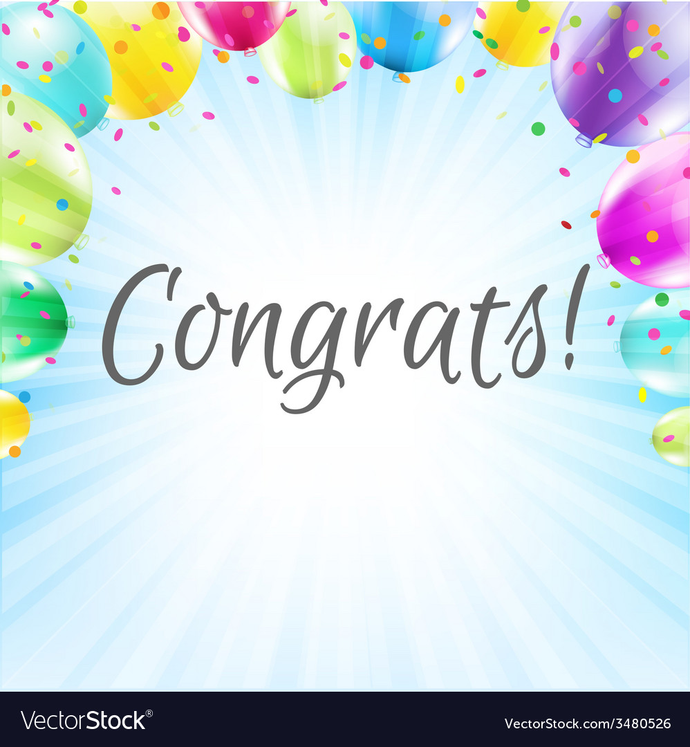 Congrats card vector | Price: 1 Credit (USD $1)