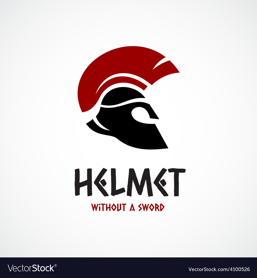 Helmet logo template greek or sparta style vector | Price: 1 Credit (USD $1)