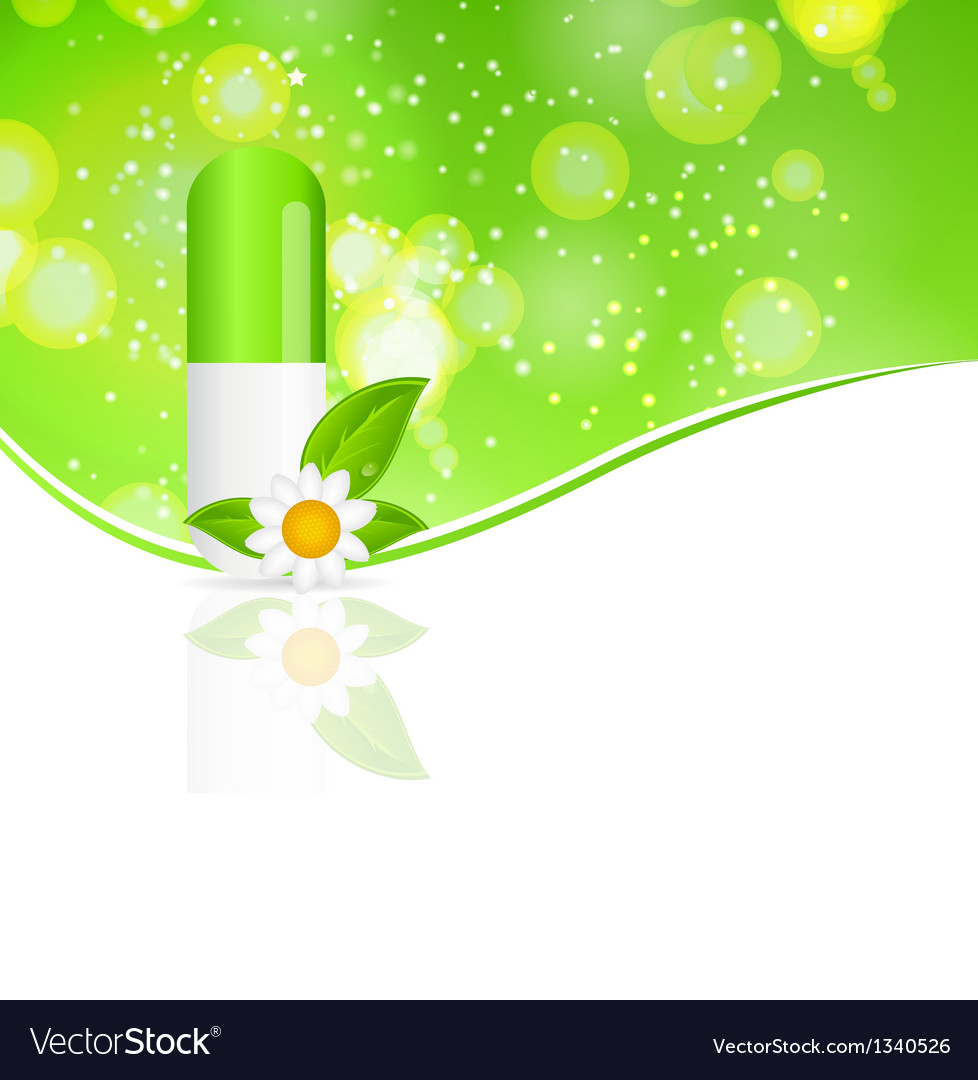 Herbal pill iconenvironment background vector   Price: 1 Credit (USD $1)