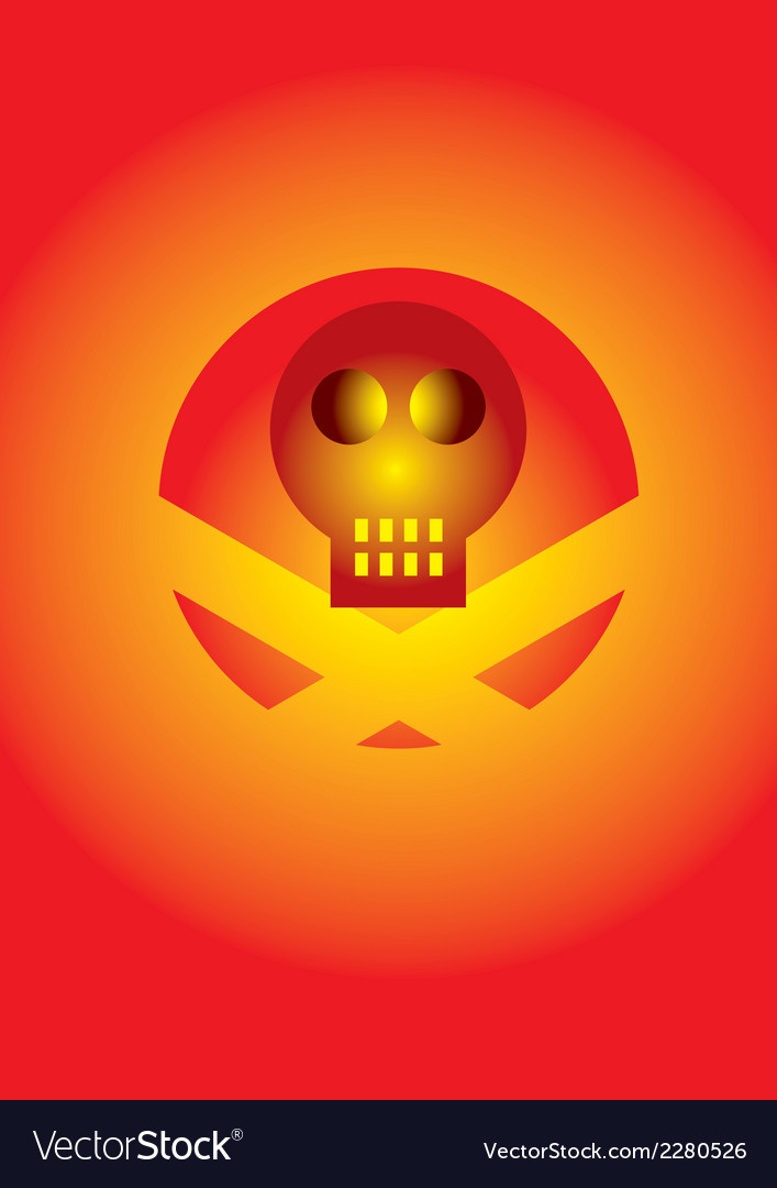Skull icon with effects vector | Price: 1 Credit (USD $1)