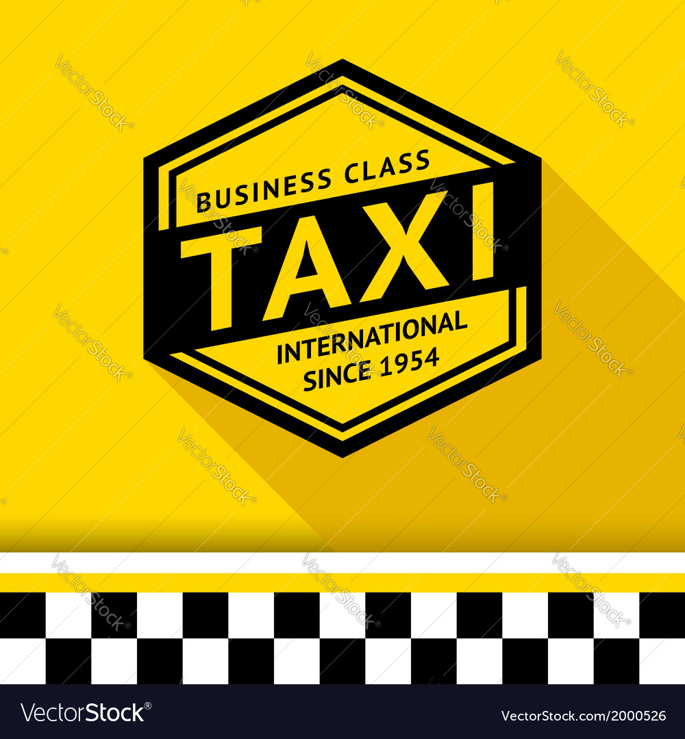 Taxi badge with shadow - 07 vector | Price: 1 Credit (USD $1)