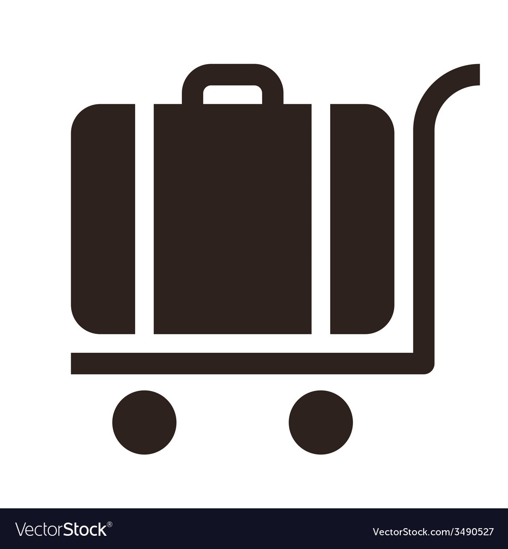Baggage cart - travel icon vector | Price: 1 Credit (USD $1)