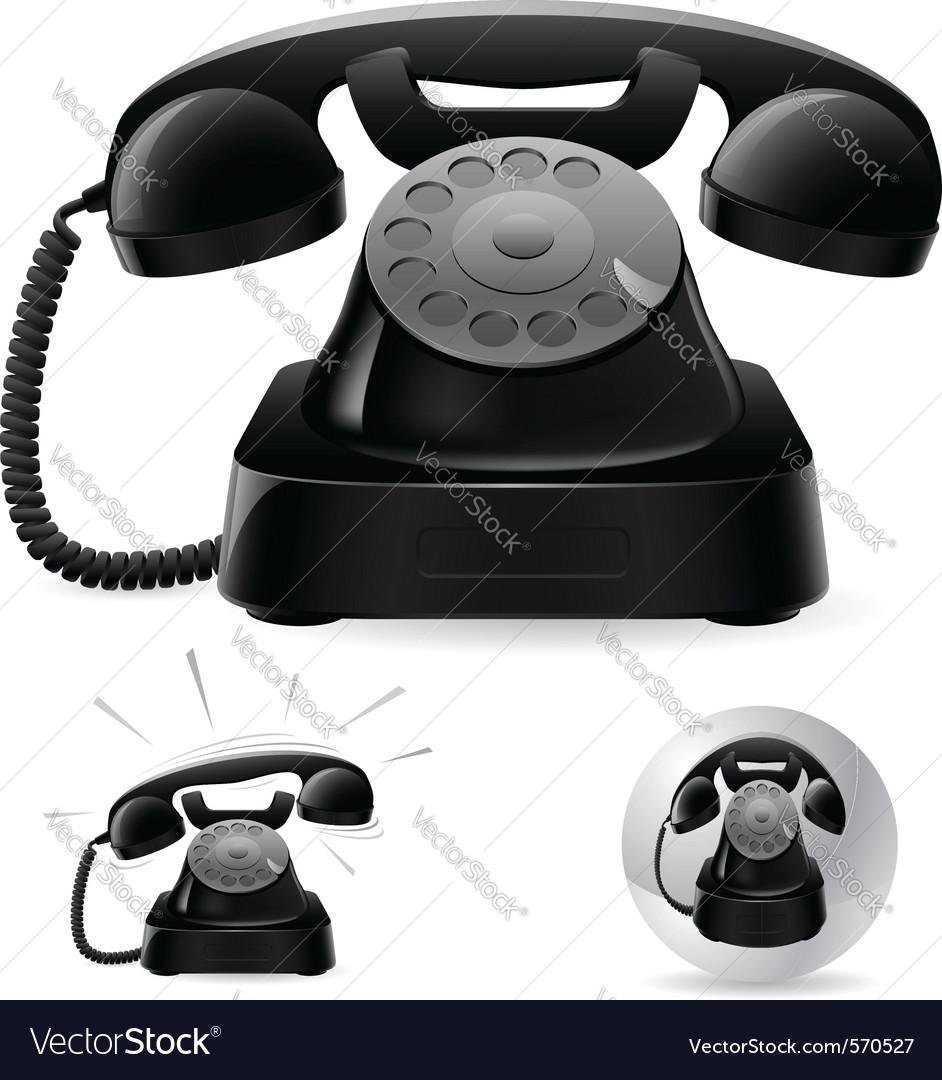 Black phone icons vector   Price: 1 Credit (USD $1)