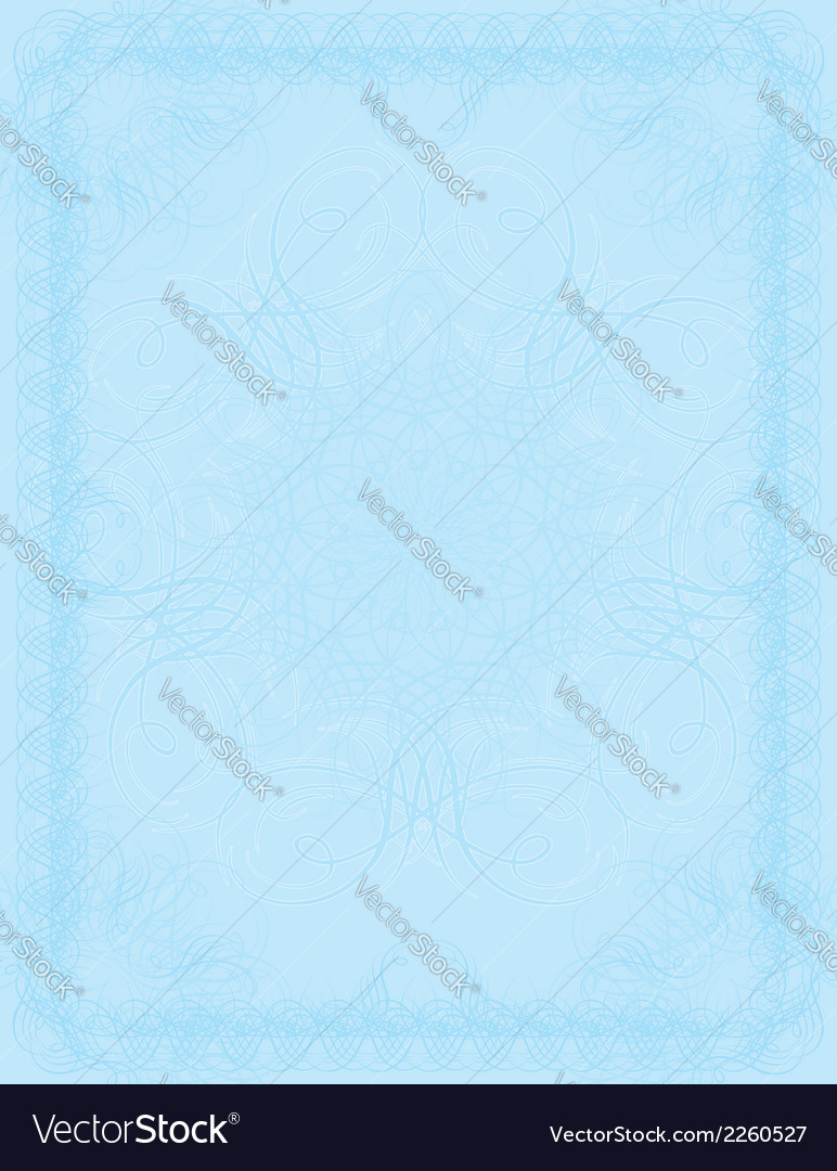 Blue certificate background vector | Price: 1 Credit (USD $1)